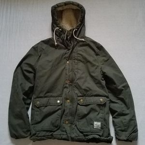 H&M Divided Parka Winter Jacket Hooded Quilted  M